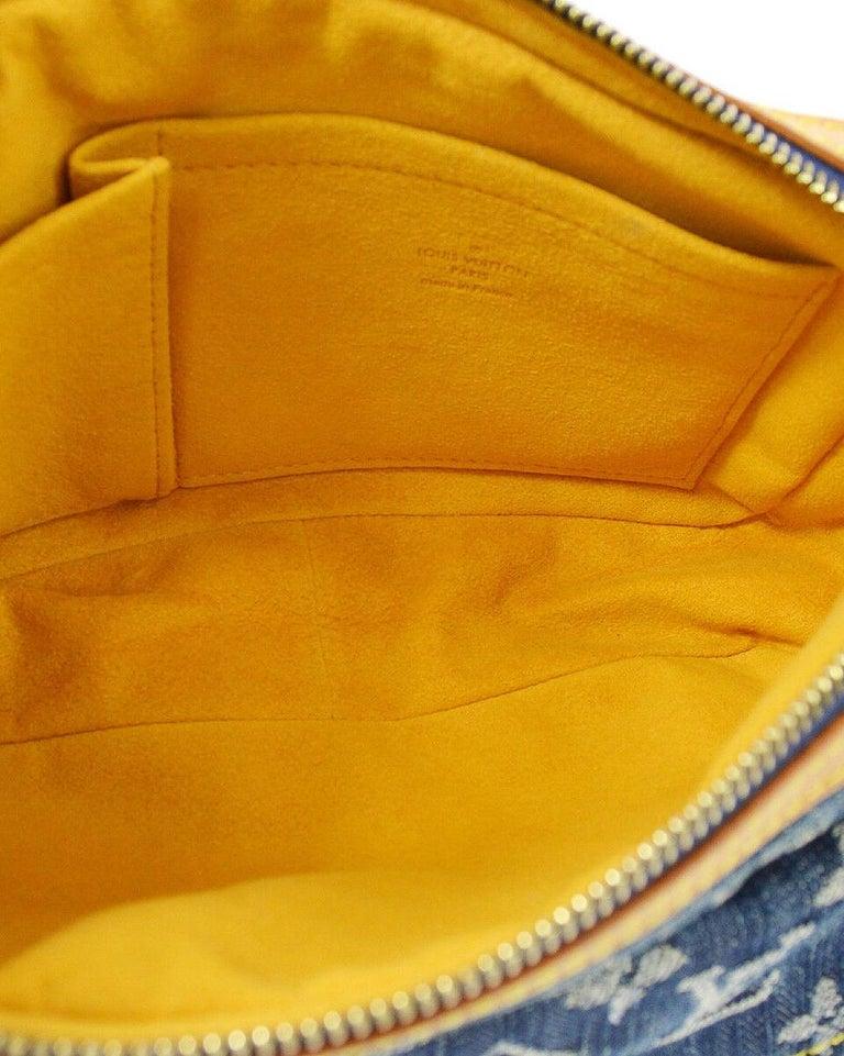 Louis Vuitton Blue Jean Monogram Bum Fanny Pack Waist Belt Bag For Sale 4