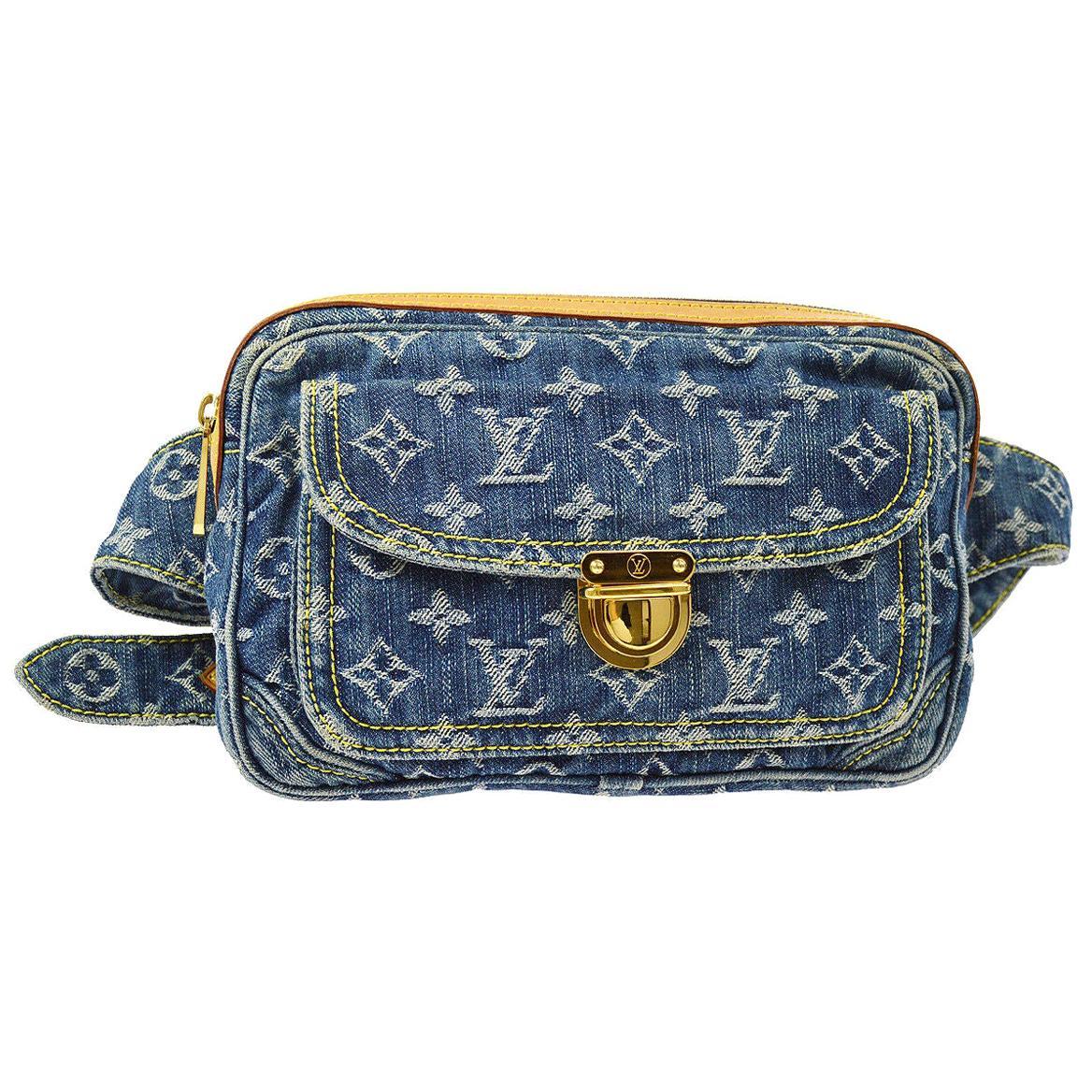 Louis Vuitton Blue Jean Monogram Bum Fanny Pack Waist Belt Bag