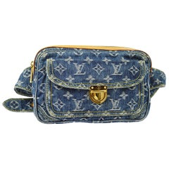 Louis Vuitton Blue Jean Monogram Bum Fanny Pack Waist Belt Bag