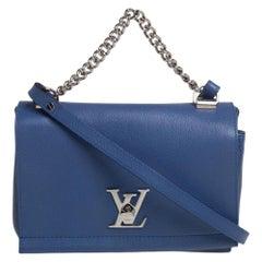 Louis Vuitton Blue Leather Lockme II BB Bag