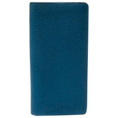 Louis Vuitton Blue Leather Long Wallet