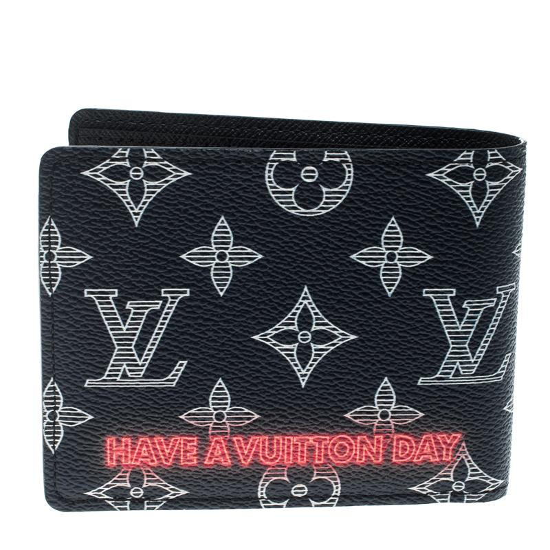 39a28bb72f5b Louis Vuitton Blue Monogram Canvas Upside Down Multiple Bifold Wallet For  Sale at 1stdibs