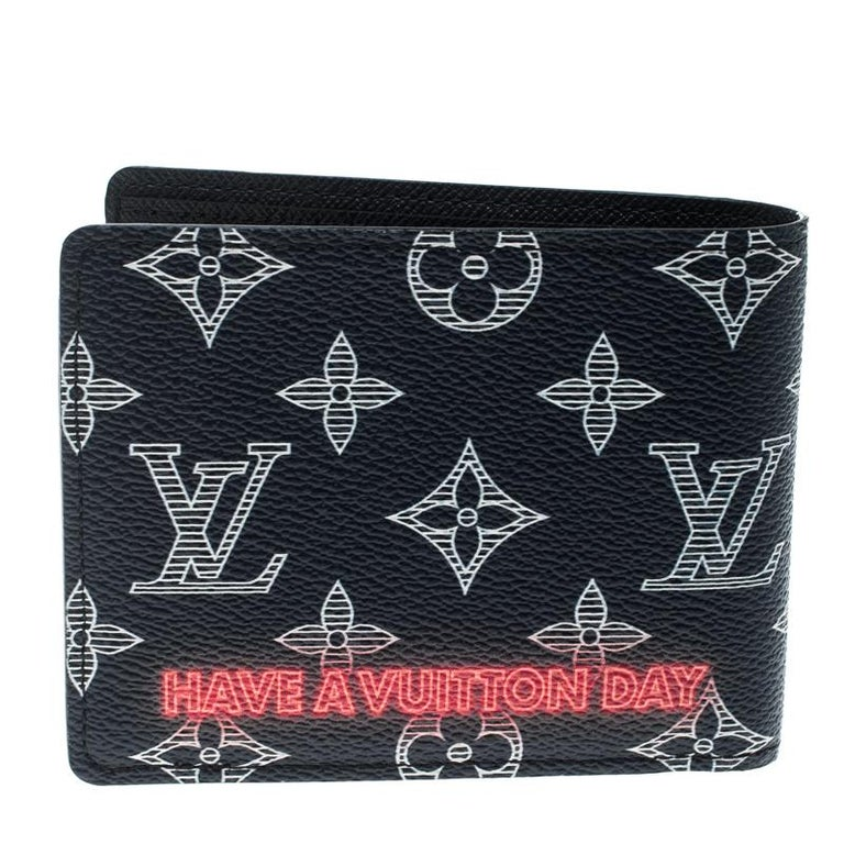 5121898f24f2 Indulge in a worthy buy by getting this Upside Down bifold wallet from Louis  Vuitton.