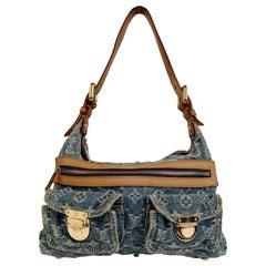 Louis Vuitton Blue Monogram Denim Baggy PM Shoulder Bag