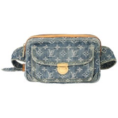 Louis Vuitton Blue Monogram Denim Bum Bag