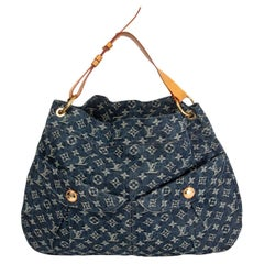 LOUIS VUITTON blue MONOGRAM DENIM DAILY GM Hobo Shoulder Bag