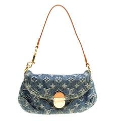 Louis Vuitton Blue Monogram Denim Mini Pleaty Bag