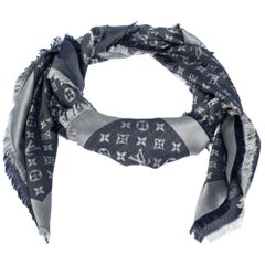 Louis Vuitton Blue Monogram Denim Shawl