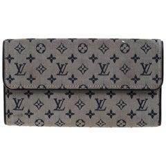 Louis Vuitton Blue Monogram MIni Lin Canvas Porte Tresor International Wallet