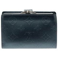 Louis Vuitton Blue Monogram Vernis Leather French Purse