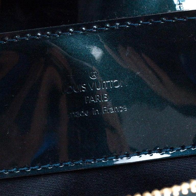 Louis Vuitton Blue Nuit Monogram Vernis Melrose Avenue Bag For Sale 6