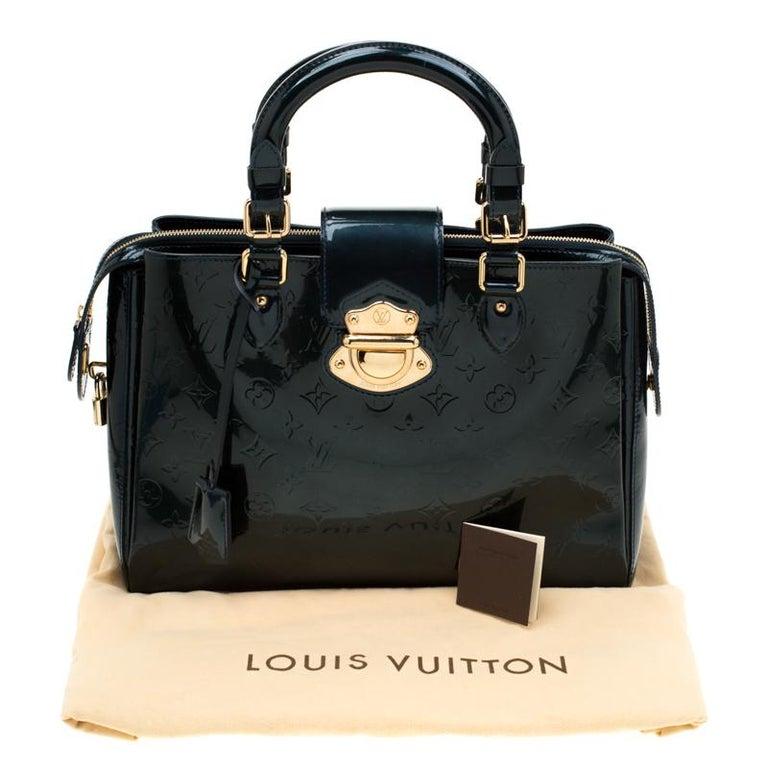 Louis Vuitton Blue Nuit Monogram Vernis Melrose Avenue Bag For Sale 8