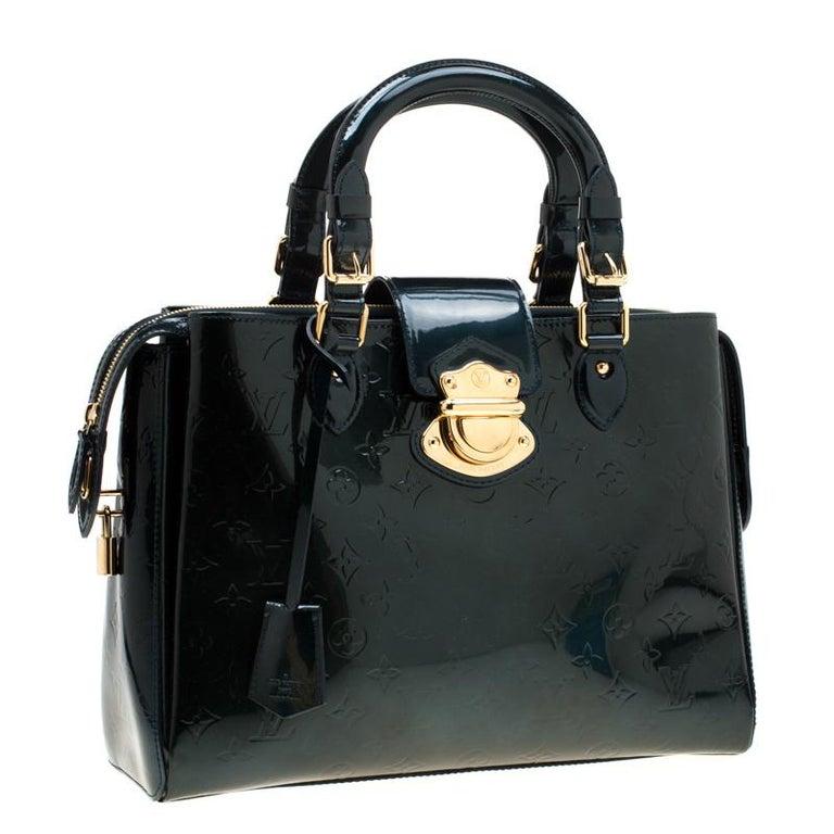 Women's Louis Vuitton Blue Nuit Monogram Vernis Melrose Avenue Bag For Sale