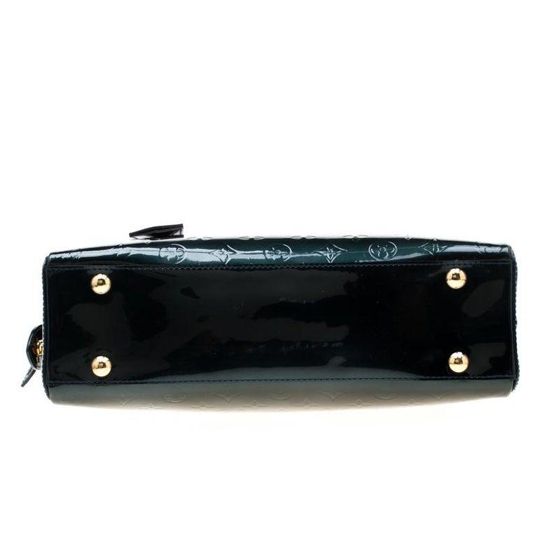 Louis Vuitton Blue Nuit Monogram Vernis Melrose Avenue Bag For Sale 1