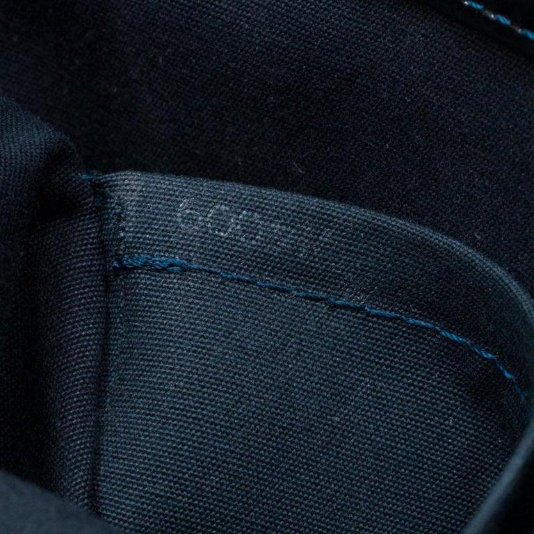 Louis Vuitton Blue Nuit Monogram Vernis Melrose Avenue Bag For Sale 2
