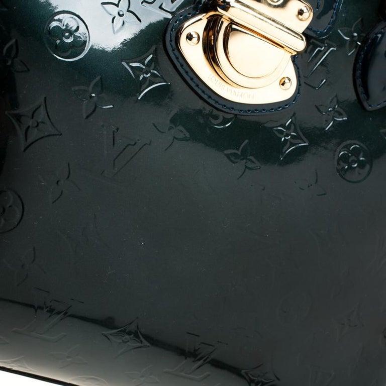 Louis Vuitton Blue Nuit Monogram Vernis Melrose Avenue Bag For Sale 3