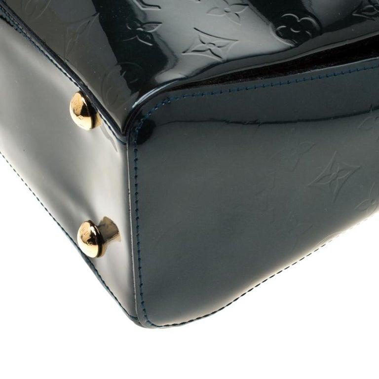 Louis Vuitton Blue Nuit Monogram Vernis Melrose Avenue Bag For Sale 4