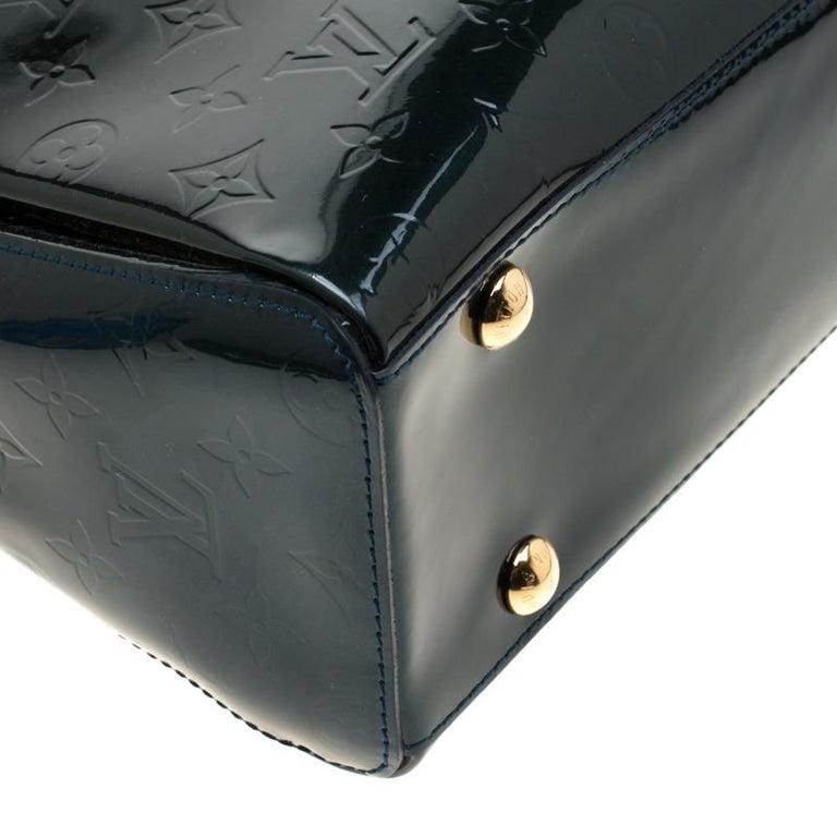 Louis Vuitton Blue Nuit Monogram Vernis Melrose Avenue Bag For Sale 5