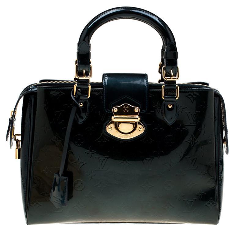 Louis Vuitton Blue Nuit Monogram Vernis Melrose Avenue Bag For Sale
