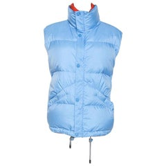 Louis Vuitton Blue Nylon Sleeveless Puffer Jacket XXL