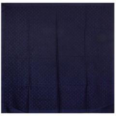 LOUIS VUITTON blue silk & wool MONOGRAM Shawl Scarf