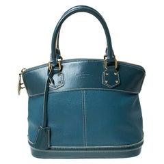 Louis Vuitton Blue Suhali Leather Lockit PM Bag