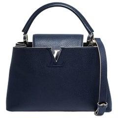 Louis Vuitton Blue Taurillon Leather Capucines PM Bag