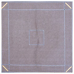 LOUIS VUITTON blue & white silk DAMIER AZUR Scarf