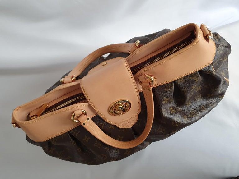 - Designer: LOUIS VUITTON - Model: Boetie - Condition: Very good condition. Sign of wear on Leather - Accessories: None - Measurements: Width: 46cm , Height: 30cm , Depth: 15cm, Strap: 87cm  - Exterior Material: Canvas - Exterior Color: Brown -