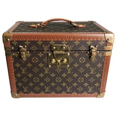 Louis Vuitton Boite Pharmacie Monogram Train Case Vanity Travel Bag Vintage 80s