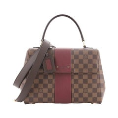 Louis Vuitton Bond Street Handbag Damier with Leather MM