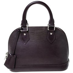 Louis Vuitton Bordeaux Epi Leather Alma BB Bag