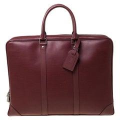Louis Vuitton Bordeaux Epi Leather Porte-Documents Voyage Bag