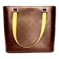 Louis Vuitton Bordeaux Leather Shoulder Huston Bag