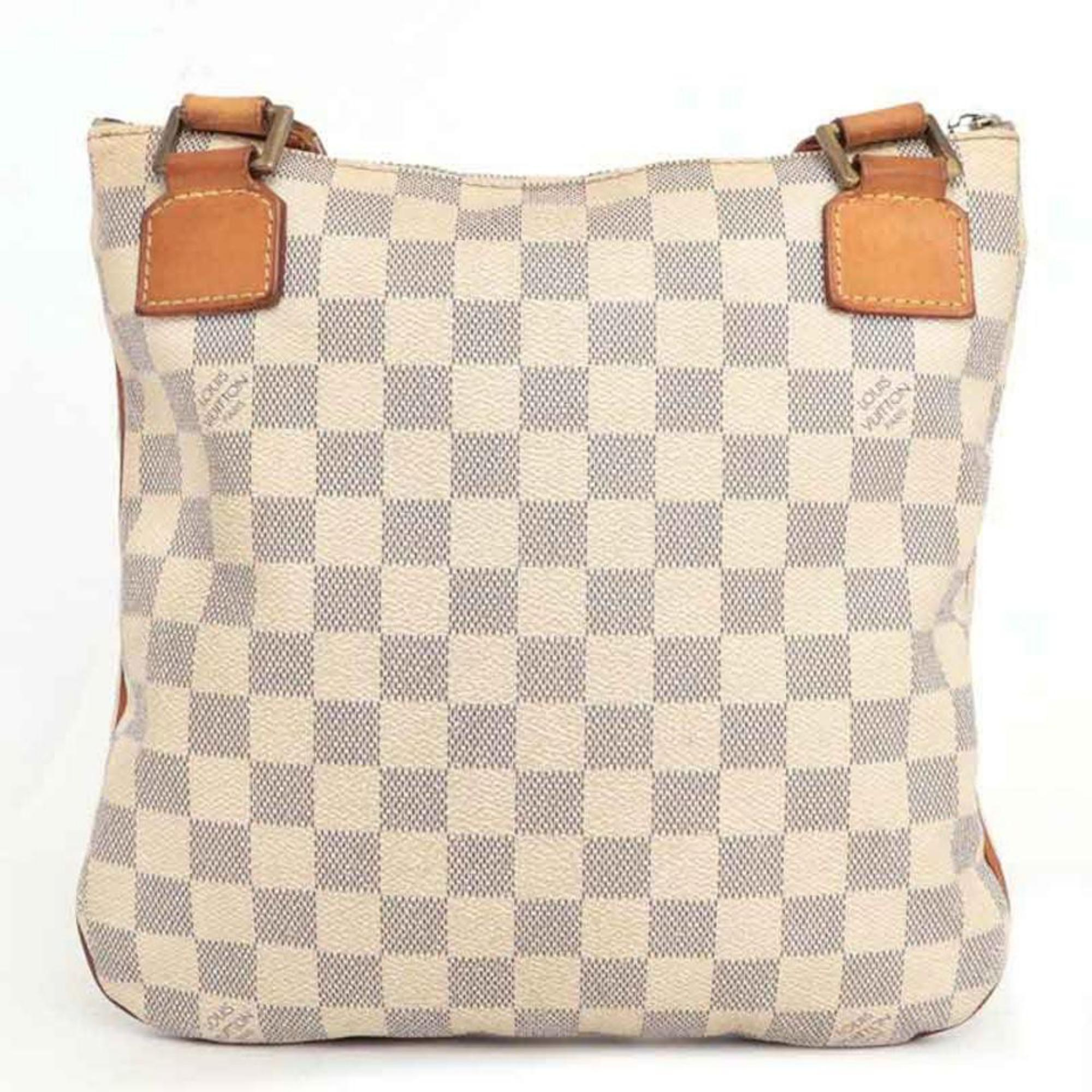 d31b862bce Louis Vuitton Bosphore Pochette Damier Azur 230342 White Cross Body Bag For  Sale at 1stdibs
