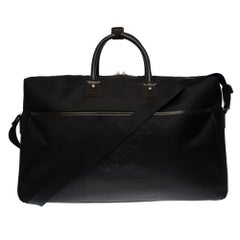 Louis Vuitton Boston 55  Travel bag strap in black canvas and silver hardware