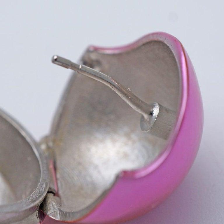 LOUIS VUITTON Boucle Dreille PlanetLV metal Womens Earrings M68965 pink For Sale 2