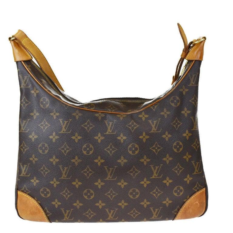 Black LOUIS VUITTON Boulogne 35 Brown Monogram Shoulder Bag 1218186 For Sale