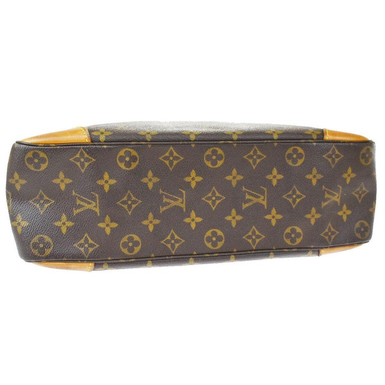 LOUIS VUITTON Boulogne 35 Brown Monogram Shoulder Bag 1218186 In Good Condition For Sale In Scarsdale, NY