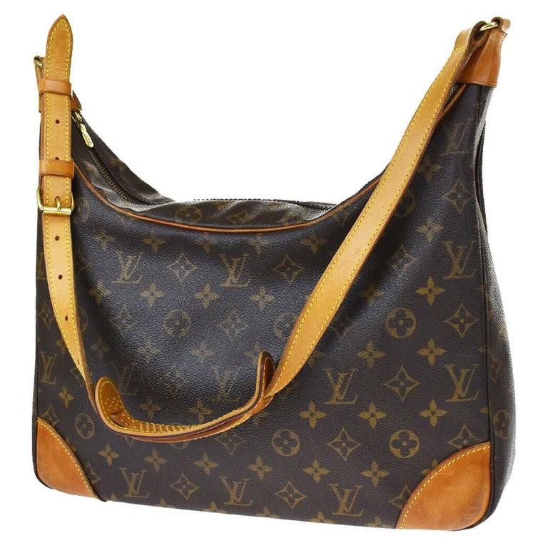LOUIS VUITTON Boulogne 35 Brown Monogram Shoulder Bag 1218186 For Sale