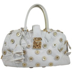 Louis Vuitton Bowly Polka Dot Panama Bag