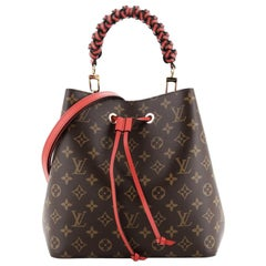 Louis Vuitton Braided Handle NeoNoe Handbag Monogram Canvas