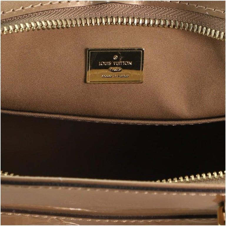 Louis Vuitton Brea NM Handbag Monogram Vernis PM For Sale 2