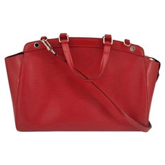 LOUIS VUITTON Bréa Shoulder bag in Red Leather