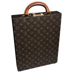 Louis Vuitton Briefcase Monogram Canvas Travel Bag with Combination Lock Vintage