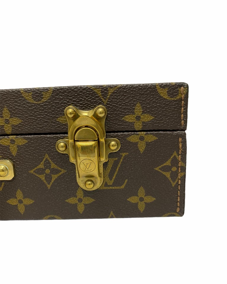 Louis Vuitton Briefcase with Cowhide Inserts And Golden Hardware In Excellent Condition For Sale In Torre Del Greco, IT