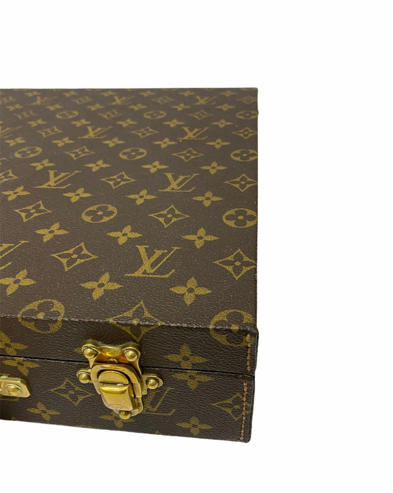 Louis Vuitton Briefcase with Cowhide Inserts And Golden Hardware For Sale 1