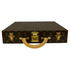 Louis Vuitton Briefcase with Cowhide Inserts And Golden Hardware