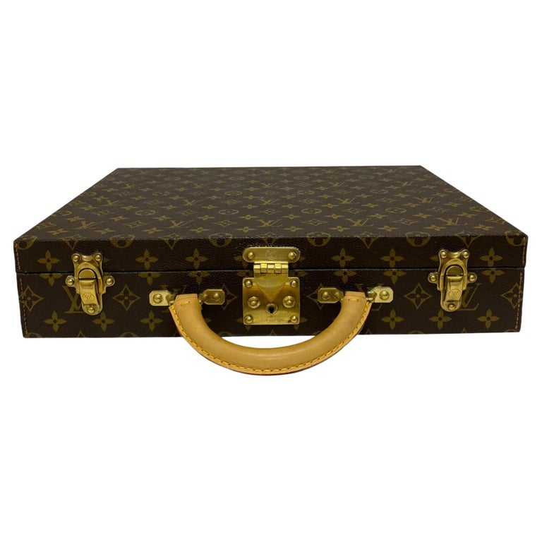 Louis Vuitton Briefcase with Cowhide Inserts And Golden Hardware For Sale