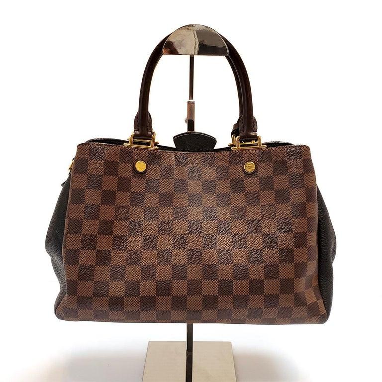 Black Louis Vuitton Brittany Brown Damier Ebene Hand Bag For Sale